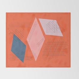 Mid Century Mod in Orange Throw Blanket