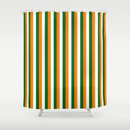 Team Colors 4... orange green white Shower Curtain