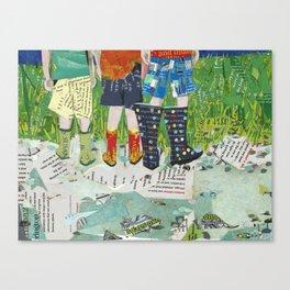 Rain Boots Canvas Print