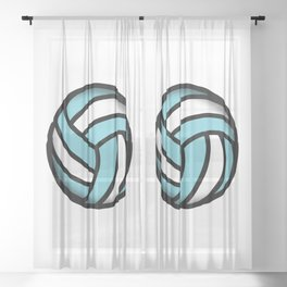volleyball Sheer Curtain