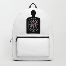 Human Shape Target With Bullet Holes Backpack