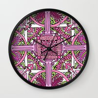 burlesque Wall Clocks featuring HELLENIC BURLESQUE by AZZURRO ARTS