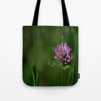 clover Tote Bags featuring Clover by Dorothy Pinder