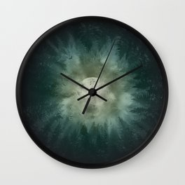 forest wolf Wall Clock