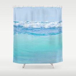 Kapukaulua Pure Blue Surf Shower Curtain