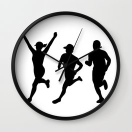 Marathon Runners Silhouette Collection Set Wall Clock
