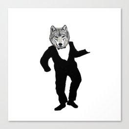 Dancing Wolf Canvas Print