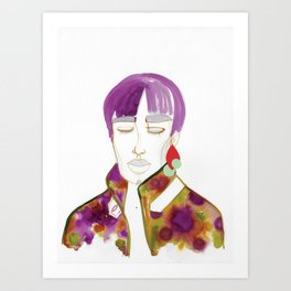 Cory with Winter Coat Art Print