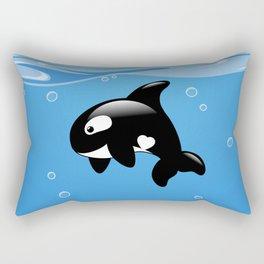 Orca, Cute Killer Whale Rectangular Pillow