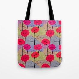 fiori allegri mimetici Tote Bag