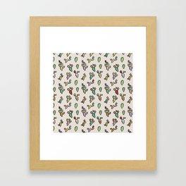 Cactus Pattern Framed Art Print