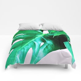 Cheese Plant Leaves Comforters