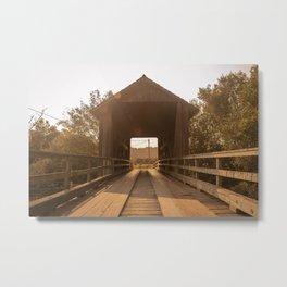 Zanes Ranch Bridge Metal Print