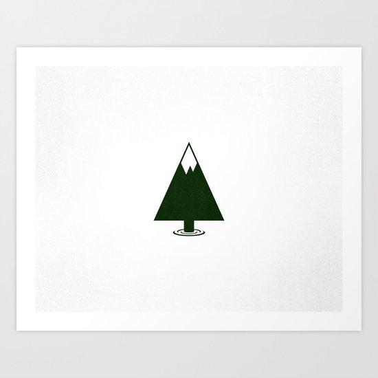 Pine Mountain Lake Art Print