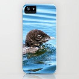 Baby loon solo swim iPhone Case