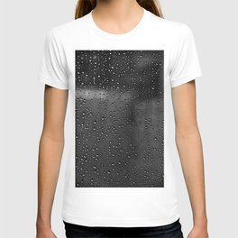 Black and White Rain Drops; Abstract T-shirt