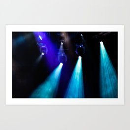 Blue Lights Art Print