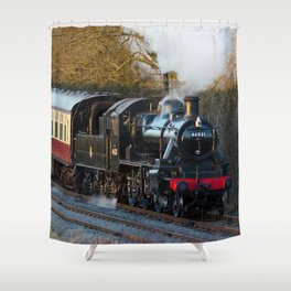 Kinchley curve Shower Curtain