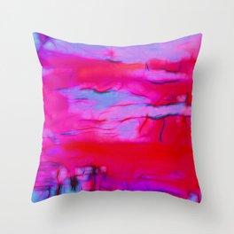 Pink Storm Throw Pillow