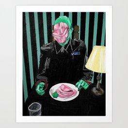 Dinner at Mussolini's. 2016. Art Print