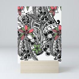 Polynesian Flora Touch Of Color Mini Art Print