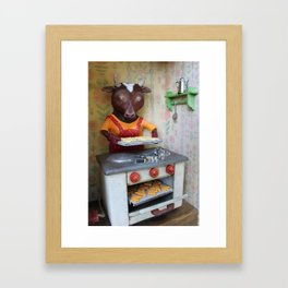 Shortbread cookies Framed Art Print