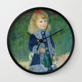 Renoir - A Girl with a Watering Can Wall Clock