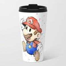 Mario Watercolor Travel Mug
