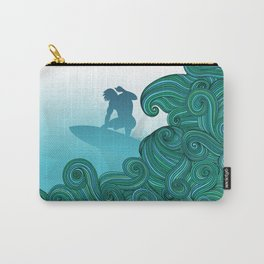 Surfer Dude Hangin Ten Carry-All Pouch