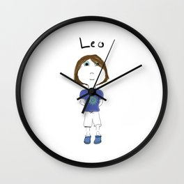 Personalized Art - Leo Wall Clock