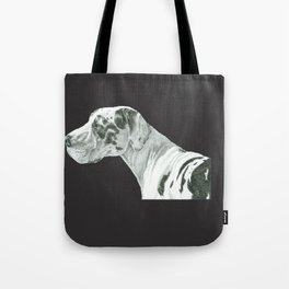 Great dane - harlequin Tote Bag