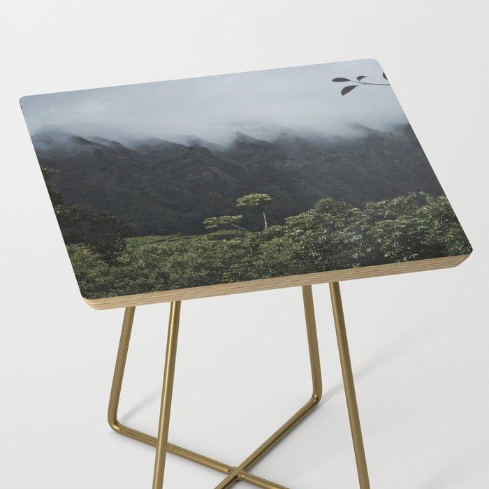 Foggy Oahu Green Side Table