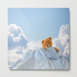 Sweet Dreams - Teddy Bear's Nap Metal Print