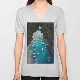 Island hopping in the Philippines Unisex V-Neck