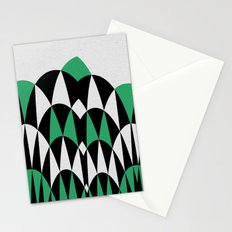 Modern Day Arches Green Stationery Cards