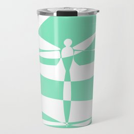 Carnival Glass Dragonfly Travel Mug