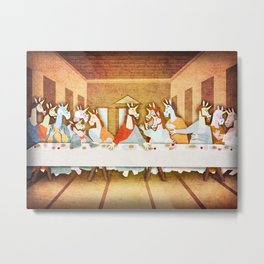 Last Supper Unicorn Metal Print