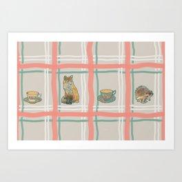 The Fox and The Hedgehog #1 Art Print