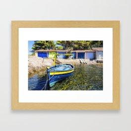 Seacoast of Cap Benat near Le Lavandou and Bormes-les-Mimosas in French Riviera Framed Art Print