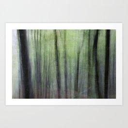 Dizzy forest Art Print