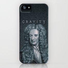 Gravity / Vintage portrait of Sir Isaac Newton iPhone Case