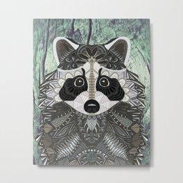 Ornate Raccoon Metal Print