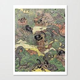 Mu Guai and the Tiger's Eye, Panel 5 Canvas Print