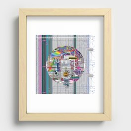 grey mandala 2 Recessed Framed Print