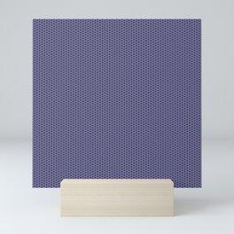 Purple Lilac Seigaiha Mini Art Print