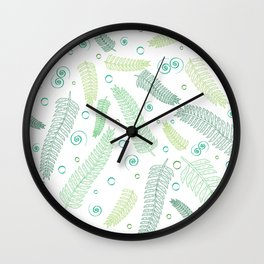Green palm tree leaves Wall Clock