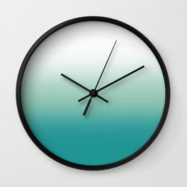 Stormy Sea Ombre Wall Clock