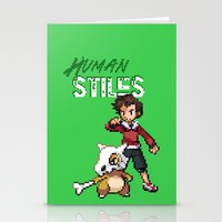 stiles stilinski Stationery Cards featuring PokeWolf: Stiles Stilinski by Trickwolves
