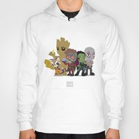 starlord Hoodies featuring Guarding the Galaxy by Nate Kelly