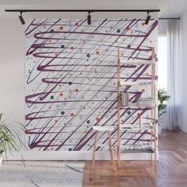 Maroon Splatter Pattern Wall Mural